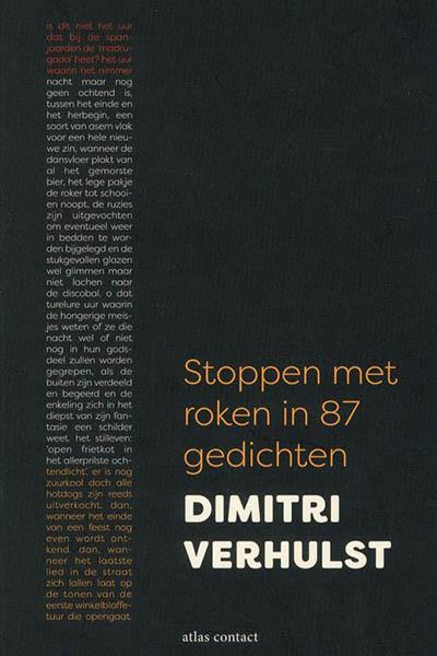 Stoppen met roken in 87 gedichten: een dichtbundel van Dimitri Verhulst